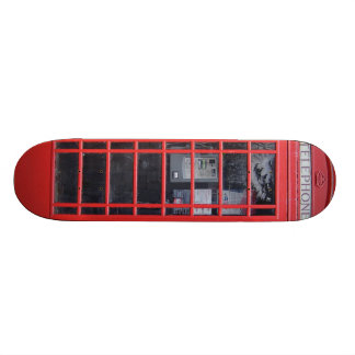 London Red Telephone Box Skateboard