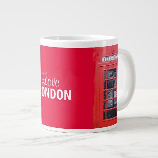 London Red Telephone Box Extra Large Mugs