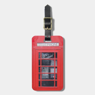 London Red Telephone Box Tag For Luggage