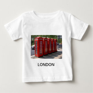London Red Telephone Boxes Baby T-Shirt
