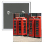 London Red Telephone Boxes Buttons
