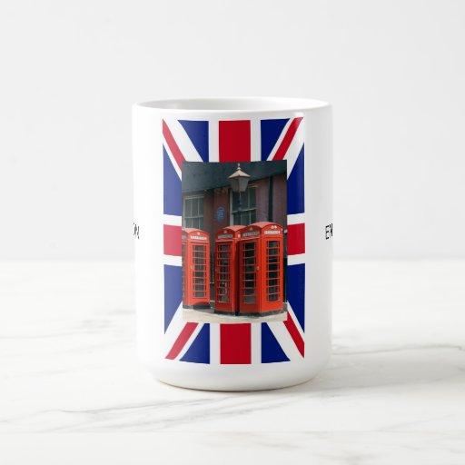 London Red Telephone Boxes Classic White Coffee Mug
