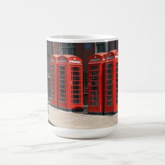 London Red Telephone Boxes Coffee Mug