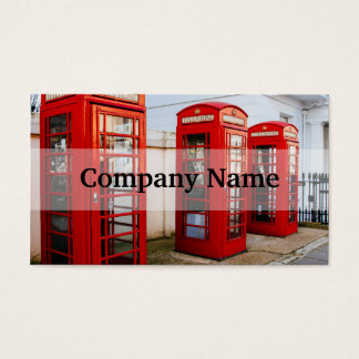 London Red Telephone Boxes, Photograph Business Card
