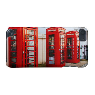 London Red Telephone Boxes, Photograph iPod Touch (5th Generation) Cases