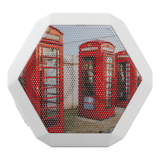 London Red Telephone Boxes, Photograph White Bluetooth Speaker