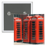 London Red Telephone Boxes Pinback Button