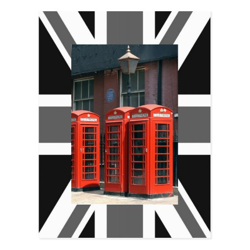 London Red Telephone Boxes Postcard
