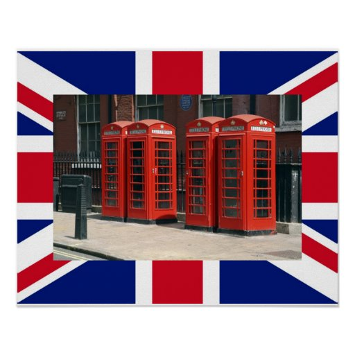 London Red Telephone Boxes Poster Print