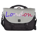 London - Red, White, and Blue - on Grey Commuter Bag