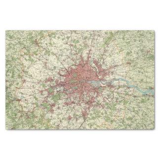 "London Region Map 10"" X 15"" Tissue Paper"