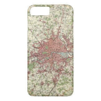 London Region Map iPhone 8 Plus/7 Plus Case