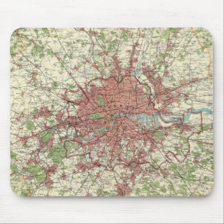 London Region Map Mouse Pad