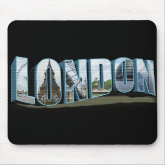 London Retro Travel Font Mouse Pad