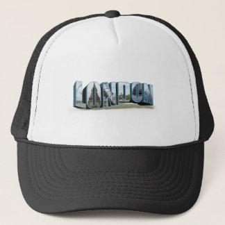 London Retro Travel Font Trucker Hat