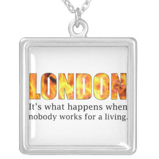 London Riots 2011 Square Pendant Necklace