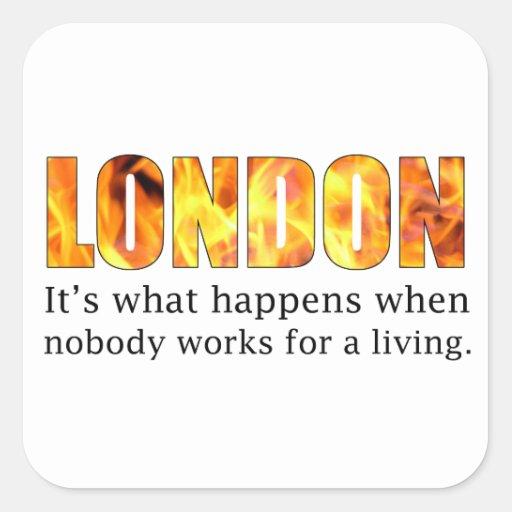 London Riots 2011 Square Sticker