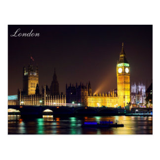 London River Big ben Post Card