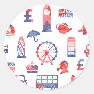London Round Sticker - Classic Glossy Sticker