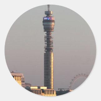 London Round Stickers