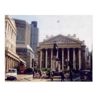 London, Royal exchange and the Bank of England Postcard