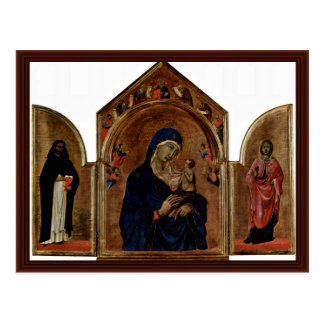 London S Main Board Triptych Madonna With Angels Postcard