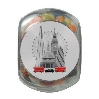 London Scene Jelly Belly Candy Jars
