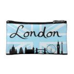 London Script on Union Jack Sky & Sites Makeup Bags