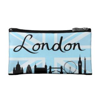 London Script on Union Jack Sky & Sites Makeup Bag