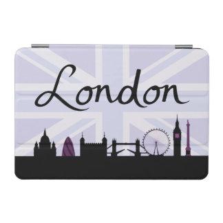 London Script on Union Jack Sky & Sites Purple iPad Mini Cover