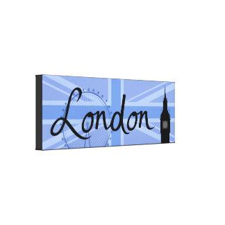 London Script & Union Jack Sky & Sites Canvas Print