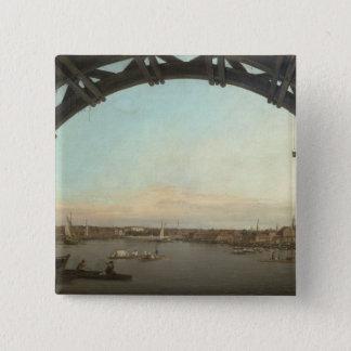 London seen through an arch of Westminster Pinback Button