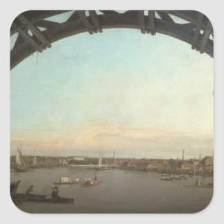 London seen through an arch of Westminster Square Sticker