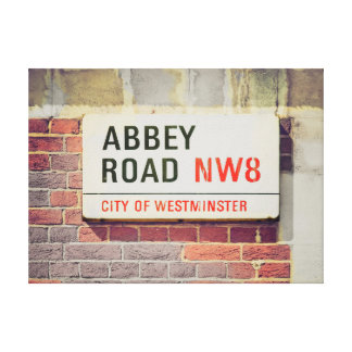 London Sign Wrapped Canvas