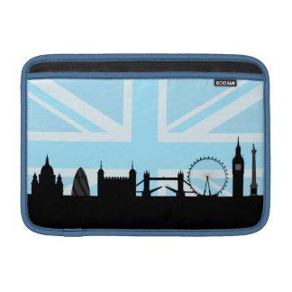 London Sites Skyline and Blue Union Jack/Flag MacBook Air Sleeve