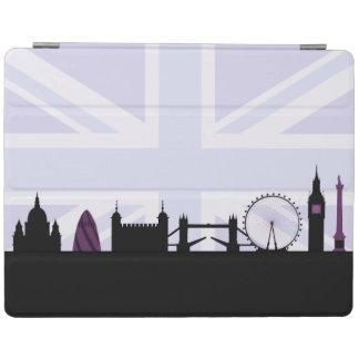 London Sites Skyline & Union Jack/Flag Purples iPad Cover