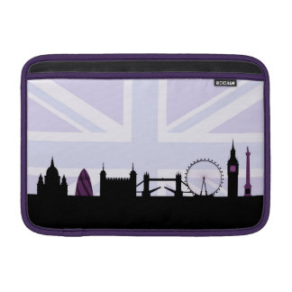 London Sites Skyline & Union Jack/Flag Purples Sleeve For MacBook Air