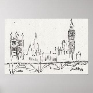 London Sketch Poster