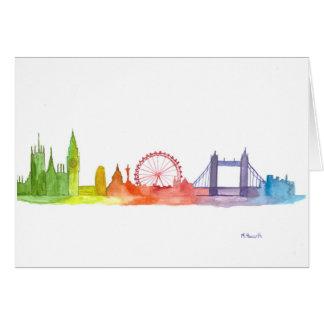 London skyline abstract art print card