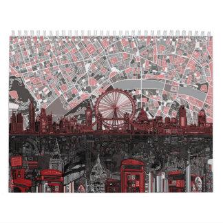 london skyline abstract calendar