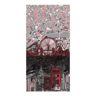 london skyline abstract photo card