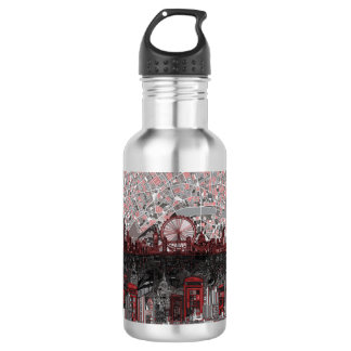 london skyline abstract water bottle
