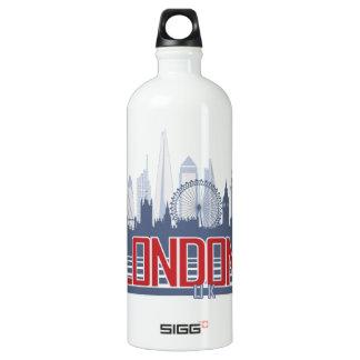 London Skyline Aluminum Water Bottle