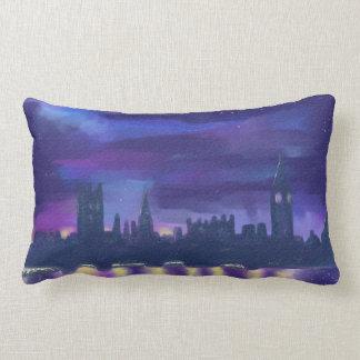 London skyline at Night Pillow