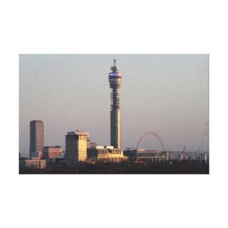 London skyline stretched canvas print
