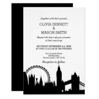 London Skyline Cityscape Wedding Invitation