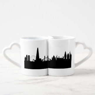 london skyline couples' coffee mug set