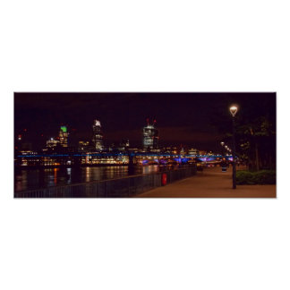 London Skyline & Millennium Bridge Poster