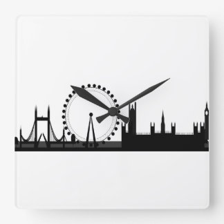 London Skyline Picture Black & White London Clock
