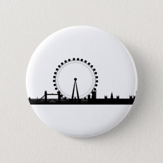 London Skyline Pinback Button